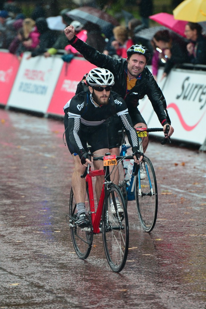 """Soaked, hungry, and beginning to cramp, I endured 4 hours and 21 minutes of hurricane Bertha's fury to cross the finish line on The Mall. For some it was a moment of triumph, but for me, I was just relieved to have survived my first sportive!"""