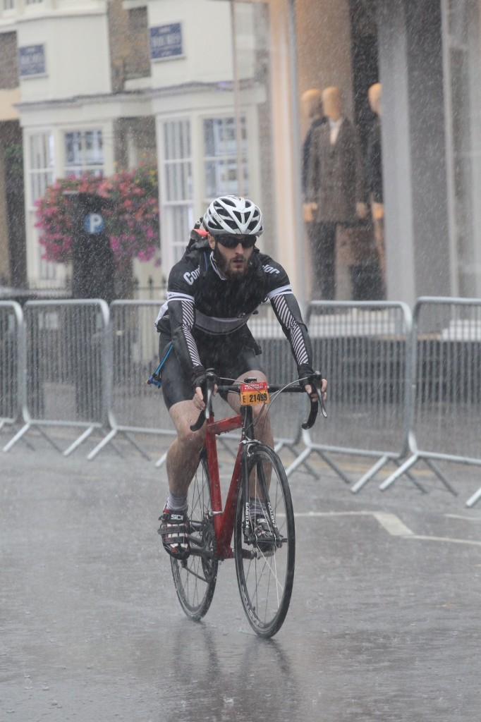 """The rain was relentless, and at times the ride felt like a solo slog"""
