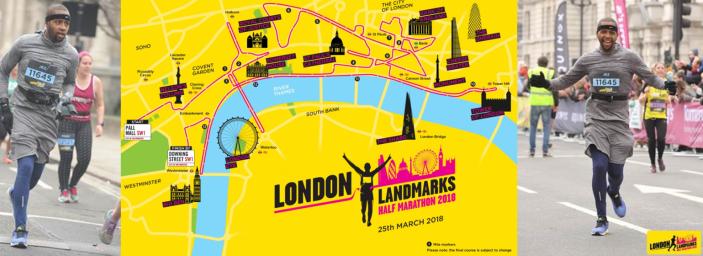 Jubilant Jez completes his first London Landmarks Half Marathon!